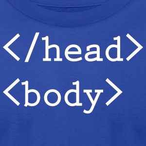 Head body html tag - Men's T-Shirt by American Apparel