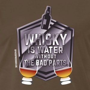 Whisky is water without the bad parts T-Shirts - Men's Premium T-Shirt