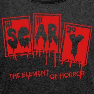 Halloween Periodic Table Scary Element Of Horror - Women's Roll Cuff T-Shirt