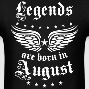Legends are born August Birthday Vintage Wings Tee - Men's T-Shirt