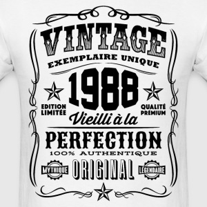 Vintage 1988 Vieilli á la Perfection noir - Men's T-Shirt