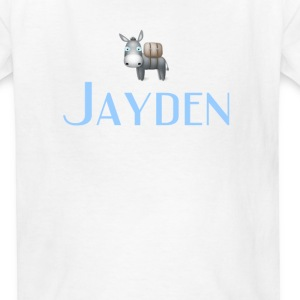 jayden name DONKEY CUTE LITTLE BOYS shirt - Kids' T-Shirt