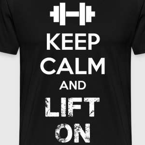 Keep Calm And Lift On T-Shirts - Men's Premium T-Shirt