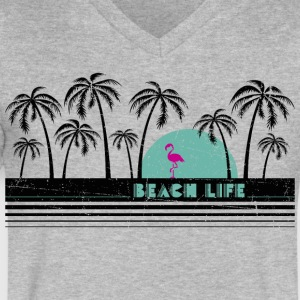 Beach Life T-Shirt - Men's V-Neck T-Shirt by Canvas