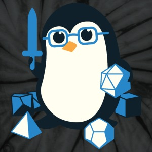 Cute Penguin Dungeons & Dragons Fantasy Dice - Unisex Tie Dye T-Shirt