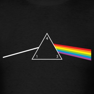 d4 Side of the Moon Dungeons & Dragons Pink Floyd  - Men's T-Shirt