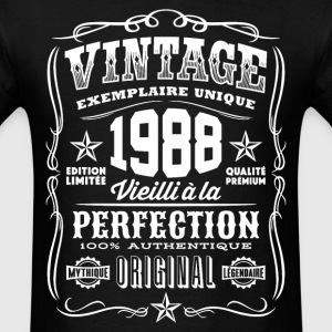 Vintage 1988 Vieilli á la Perfection blanc - Men's T-Shirt