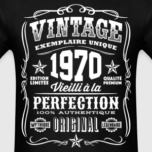 Vintage 1970 Vieilli á la Perfection blanc - Men's T-Shirt
