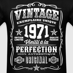 Vintage 1971 Vieilli á la Perfection blanc - Men's T-Shirt