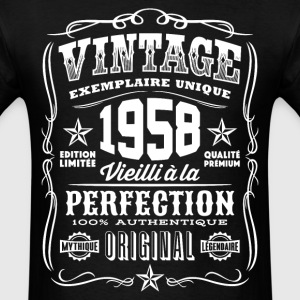 Vintage 1958 Vieilli á la Perfection blanc - Men's T-Shirt
