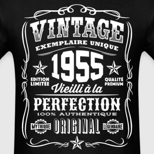 Vintage 1955 Vieilli á la Perfection blanc - Men's T-Shirt