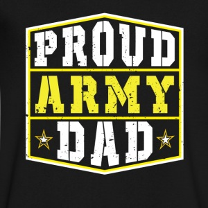 Proud Army Dad T-Shirts - Men's V-Neck T-Shirt by Canvas