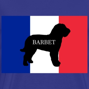 barbet name silhouette on flag - Men's Premium T-Shirt