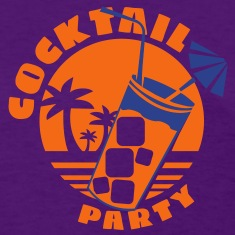 cocktail party  Women's T-Shirts