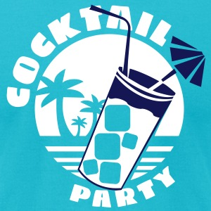 cocktail party  T-Shirts - Men's T-Shirt by American Apparel