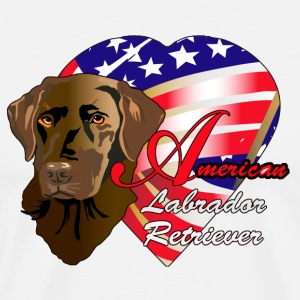 American Labrador Retriever - Men's Premium T-Shirt