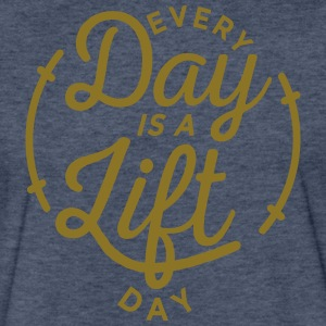 Every Day is a Lift Day [Gold Print] - Fitted Cotton/Poly T-Shirt by Next Level