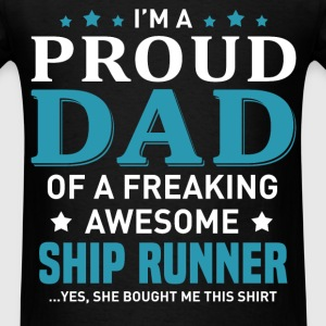 Ship Runner's Dad - Men's T-Shirt