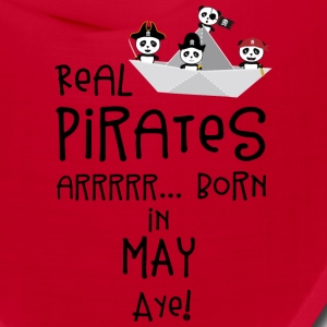 Real Pirates are born in MAY Sxdsj Caps - Bandana
