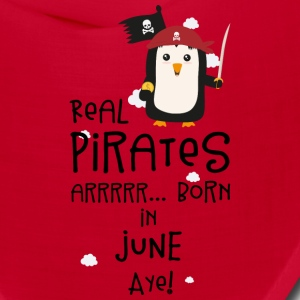 Real Pirates are born in JUNE S31wy Caps - Bandana