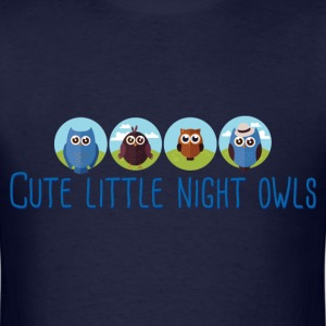 cute_little_night_owls_06_201701 T-Shirts - Men's T-Shirt