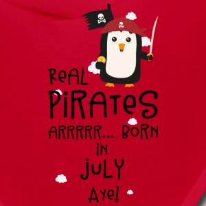 Real Pirates are born in JULY S3dca Caps - Bandana