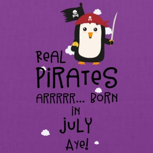 Real Pirates are born in JULY S3dca Bags & backpacks - Tote Bag