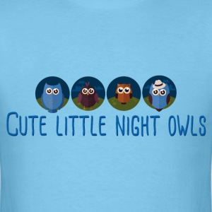 cute_little_night_owls_06_201702 T-Shirts - Men's T-Shirt
