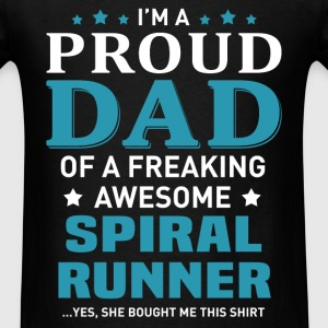 Spiral Runner's Dad - Men's T-Shirt
