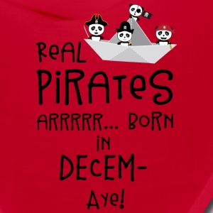 Real Pirates are born in DECEMBER Ssyxk Caps - Bandana