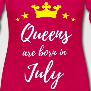 Queens Are Born In July Long Sleeve Shirts - Women's Premium Long Sleeve T-Shirt