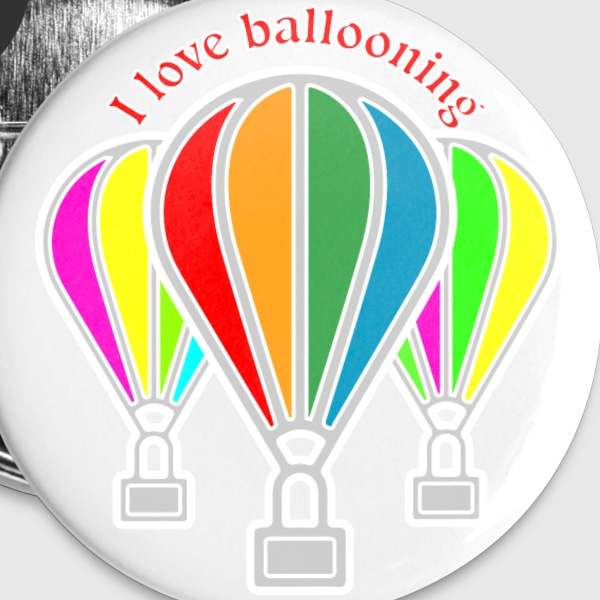 Hot air balloons Buttons - Small Buttons