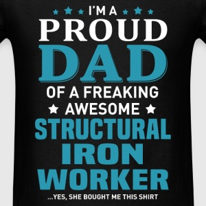 Structural Iron Worker's Dad - Men's T-Shirt