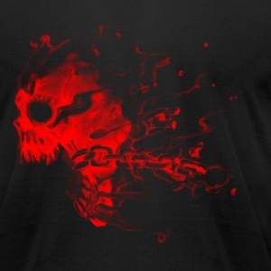 Red Skull with Chains T-Shirts - Men's T-Shirt by American Apparel