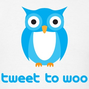 Tweet To Woo - Twitter Owl T-Shirts - Men's T-Shirt