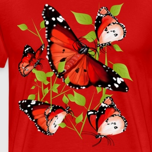 BRIGHT ORANGE BUTTERFLY - Men's Premium T-Shirt