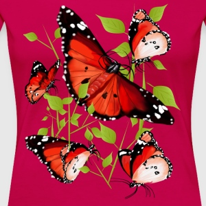 BRIGHT ORANGE BUTTERFLY - Women's Premium T-Shirt