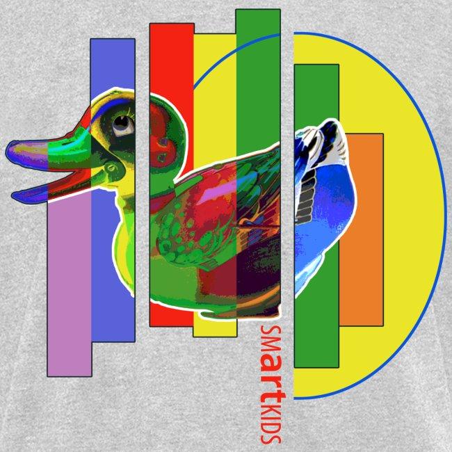 SMARTKIDS - GUTSY DUCK - front print - s/xl kids - multi colors