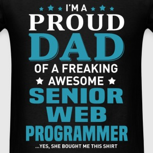 Senior Web Programmer's Dad - Men's T-Shirt