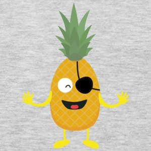 Pineapple Pirate with eye-patch S9ozq Long Sleeve Shirts - Men's Premium Long Sleeve T-Shirt