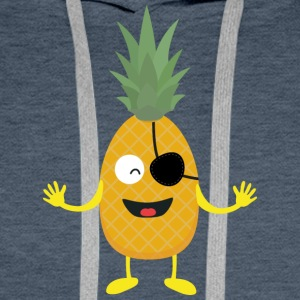 Pineapple Pirate with eye-patch S9ozq Men's Long Sleeve - Men's Premium Hoodie