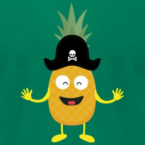 Pineapple Pirate with Hat Sk3o1 T-Shirts - Men's T-Shirt by American Apparel