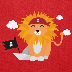 Lion Pirate with Pirateboat S4utl Bags & backpacks - Tote Bag