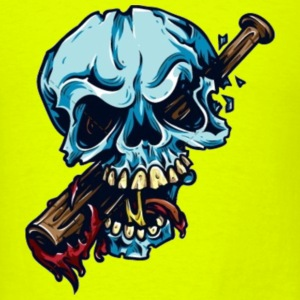 Baseball Bat Skull T-Shirts - Men's T-Shirt