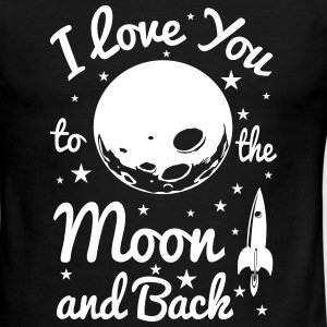 i love you to the moon T-Shirts - Men's Ringer T-Shirt
