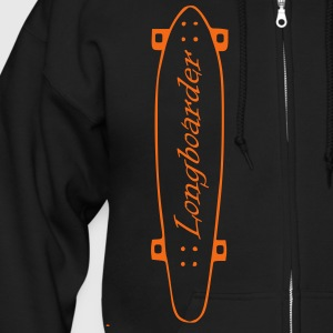 Longboard, longboarder, skateboarding, skating, roller, deck, wood board, skate board Zip Hoodies/Jackets - Men's Zip Hoodie