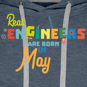 Engineers are born in May S8wv0 Men's Long Sleeve - Men's Premium Hoodie