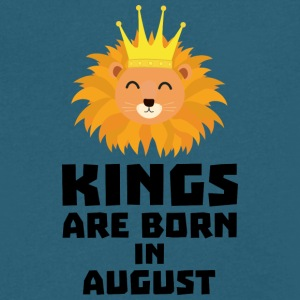 Kings are born in AUGUST S32zl T-Shirts - Men's V-Neck T-Shirt by Canvas