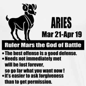aries 1aa.png T-Shirts - Men's Premium T-Shirt