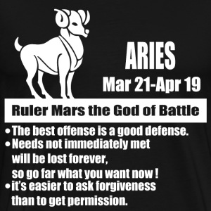 aries 1b.png T-Shirts - Men's Premium T-Shirt